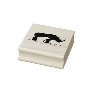 Save the Rhino Rubber Stamp