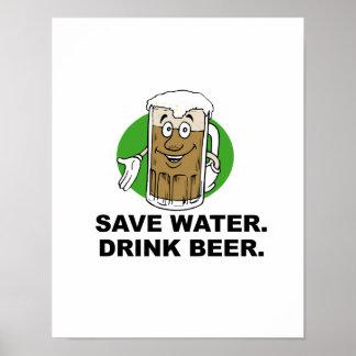 SAVE WATER DRINK BEER POSTER