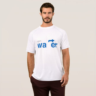 save water white t-shirt