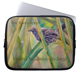 Save Wild Nature - Marsh Antwren Customizable Laptop Sleeve