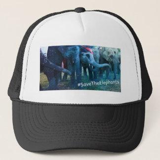 #SaveTheElephants Asian Elephants, Chitwan, Nepal Trucker Hat
