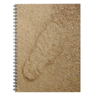 Sawdust Boot Print Photo Notebook