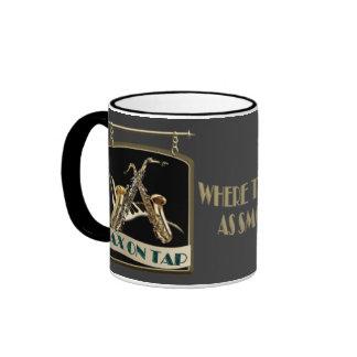 Sax On Tap Pub Sign Ringer Mug