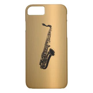 Saxophone on Bronze Copper Effect iPhone 8/7 Case