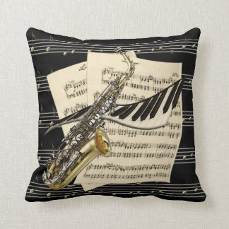 Saxophone & Piano Music Cushion