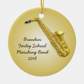 Saxophone Player Custom Photo Musicians Ornament