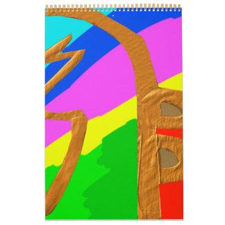 Sayhayki   Gold  - Rainbow Healing Patterns Wall Calendar