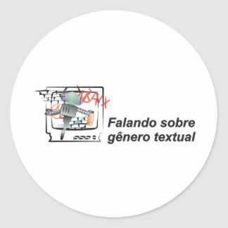 Saying on intelligent literal sort robozinho classic round sticker