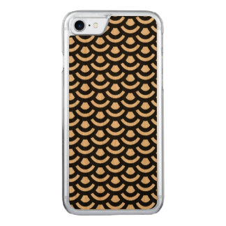 Scale Pattern Wooden iPhone 6 Carved iPhone 7 Case