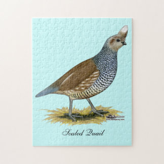 Scaled Quail Jigsaw Puzzle