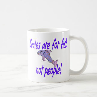 Scales are for fish basic white mug