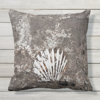 Scallop Shell Fossil Pillow