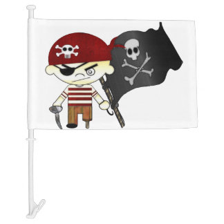 Scallywag Pirate KIDS Car Flag