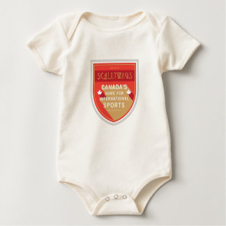 Scallywags Sports Crest Baby Bodysuit