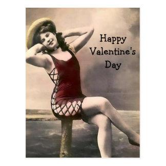 Scandalous Bathing Suit Valentine Postcard