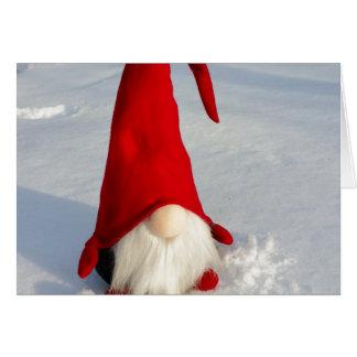Scandinavian Christmas Gnome Card