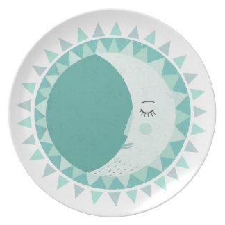 Scandinavian moon party plate