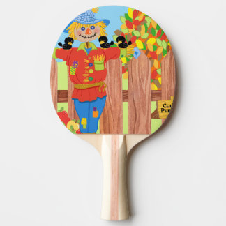 scarecrow fence scene i ping pong paddle