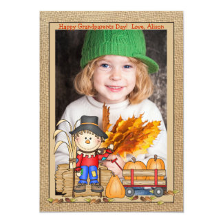 "Scarecrow Frame Photo Card 5"" X 7"" Invitation Card"