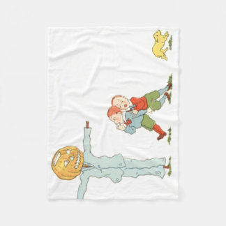 Scarecrow Jack O' Lantern Pumpkin Children Dog Fleece Blanket