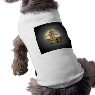 SCARECROW, PUMPKINS & CAT by SHARON SHARPE Shirt