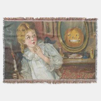 Scared Girl Smiling Jack O' Lantern Pumpkin
