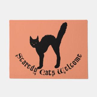Scaredy Cats Welcome Halloween Cat Doormat