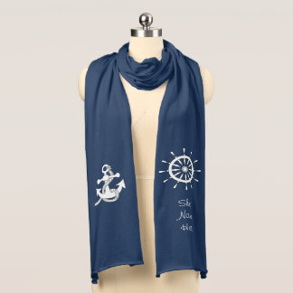 Scarf - Ship Anchor and Helm