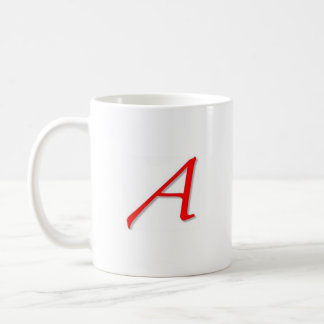 Scarlet A Design Coffee Mug