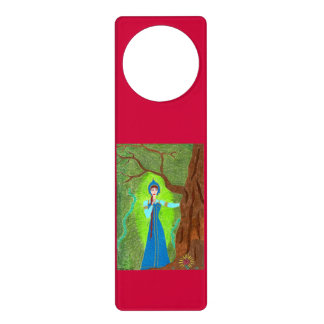 Scarlet Flower Door Hanger