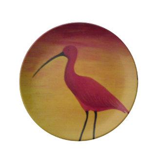Scarlet Ibis Plate