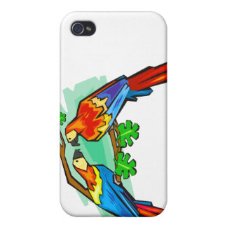 Scarlet Macaws iPhone 4 Cover