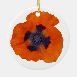 Scarlet Orange Poppy 1 Ceramic Ornament