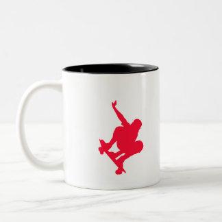 Scarlet Red Skater Two-Tone Mug