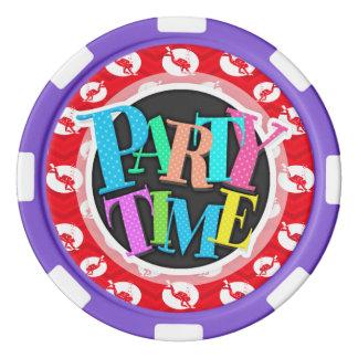 Scarlet Red, White, Chevron, Scuba Diving, Diver Poker Chips
