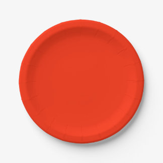 Scarlet Solid Colour 7 Inch Paper Plate