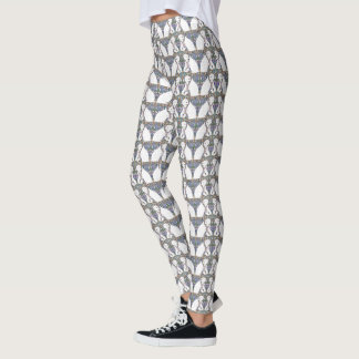 Scarved Polar Bear Pattern Leggings