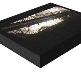 Scary bridge and train overpass gallery wrapped canvas