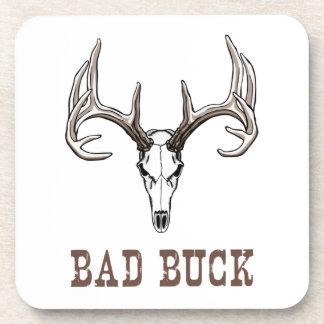 Scary buck (elk or deer) skull with antlers/horns coaster