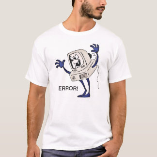 Scary Cartoon Computer Error T-Shirt
