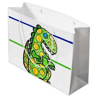 SCARY DINOSAUR TWO FACE SHOPPING BAG