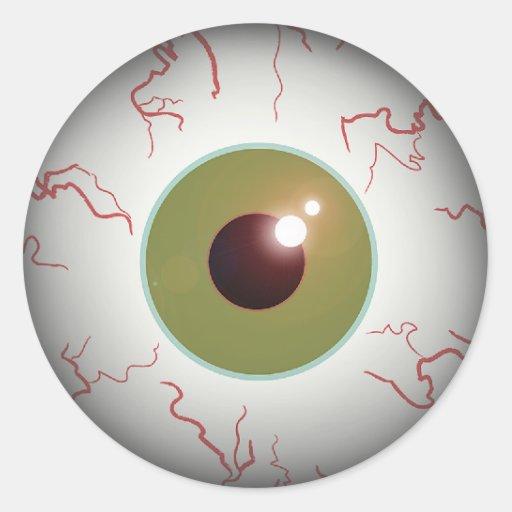 Scary Eye Ball Sticker