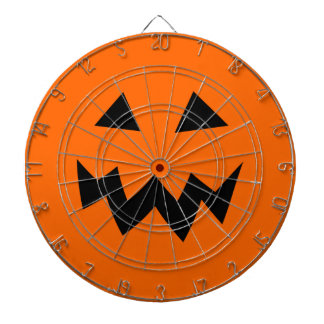 Scary Halloween pumpkin head carving dartboard