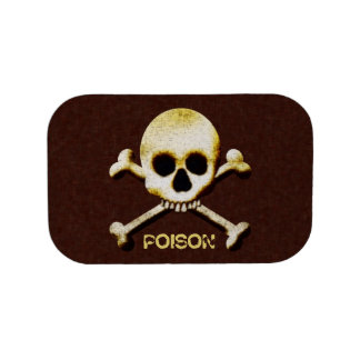 Scary Skull And Cross Bones Poison Halloween Lunchboxes