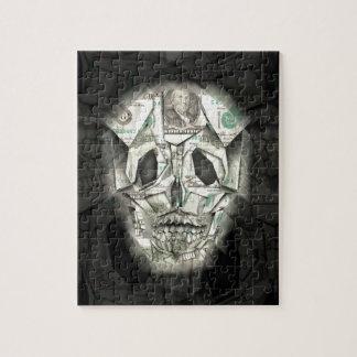 Scary Skull Black Jigsaw Puzzle