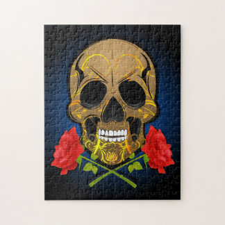Scary skull puzzle