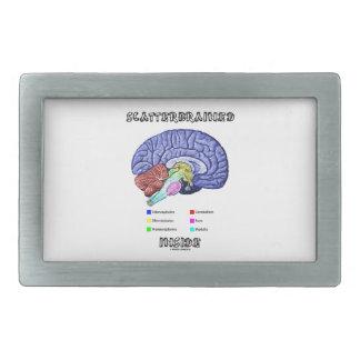 Scatterbrained Inside (Brain Humor) Rectangular Belt Buckle