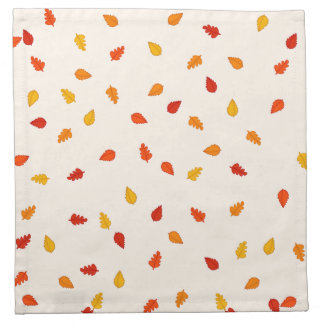 Scattered Autumn Leaves Pattern Napkins