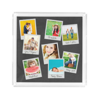 Scattered Instagram Photo Collage Acrylic Tray