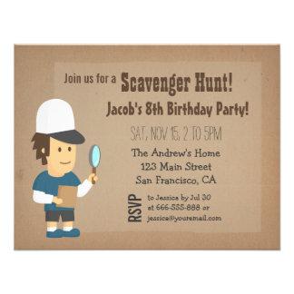 Scavenger Hunt Birthday Party Invitations